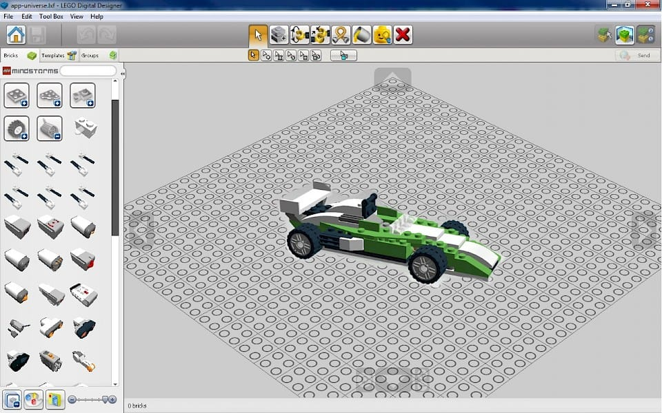 Create LEGO models with free Lego software