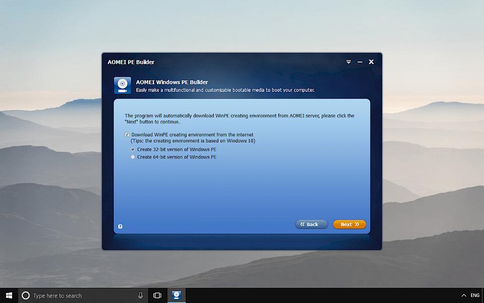 AOMEI PE Builder Download
