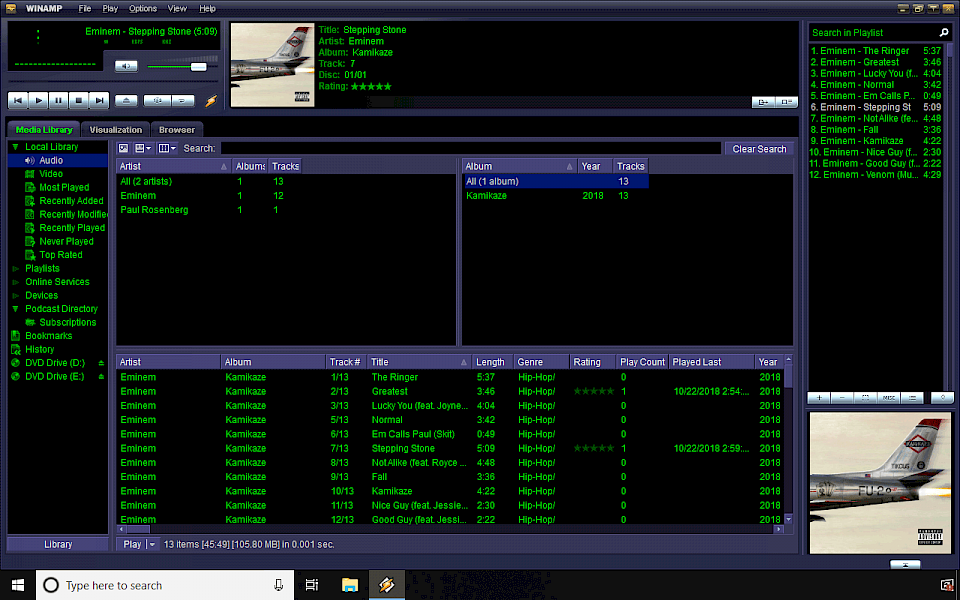 winamp mp3 player free download software for windows 7