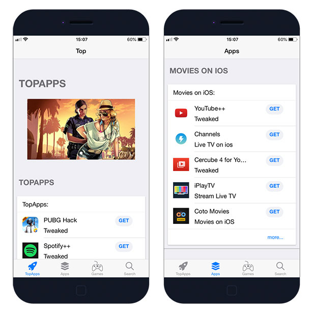 Download TopStore App, the free AppStore for iOS
