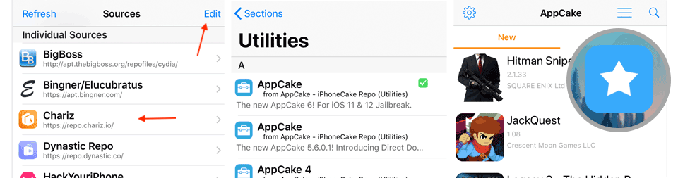 Install AppCake from Cydia Repo on iOS 12 - 11