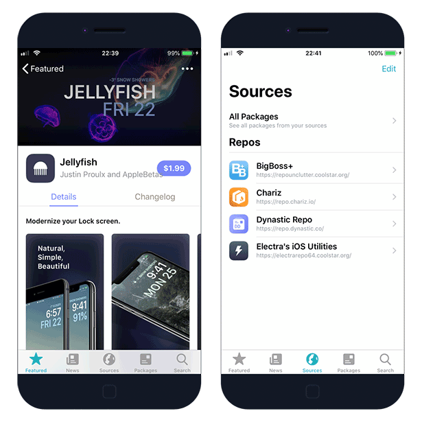 Sileo Package Manager for iOS 12
