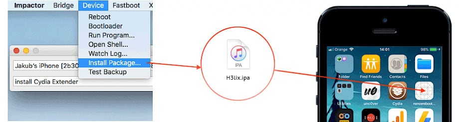 H3lix Jailbreak for iOS 10 - 10 3 4